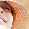 child face smile close up beach sand sun hot summer holidays