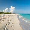 Idyllic beach of Caribbean Sea in Playacar - Mexico