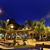Puerto Morelos night palm trees Mayan riviera