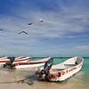 Mayan Riviera Mexico Puerto Morelos boats
