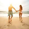 Love couple on beach