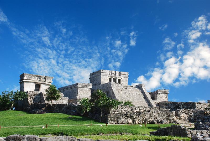 Tulum ruins in Mexico. El Castillo de Tulum