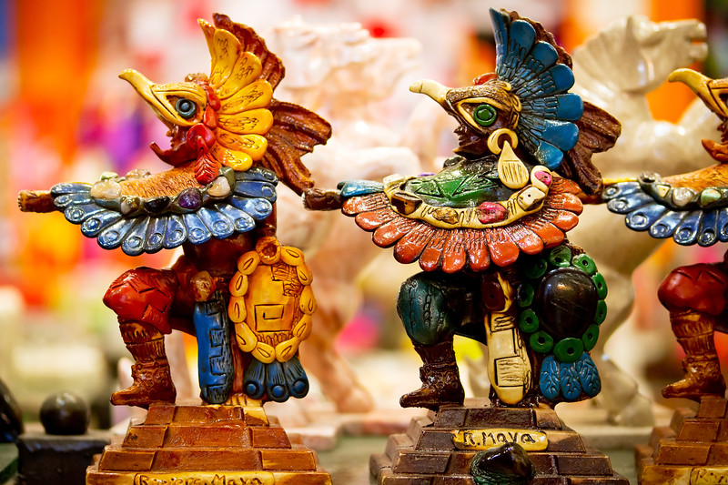 Mayan souvenir statues from Mexico