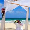Wedding preparation on a mexican beach