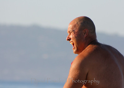 Derek after seeing his surfboard nailed by another competitor.  No penalty.