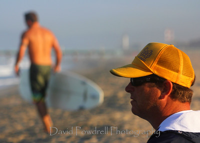 Overseeing the surfing competition was the keen eye of Patio Reardon.
