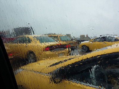 Yellow Cabs in the Rain