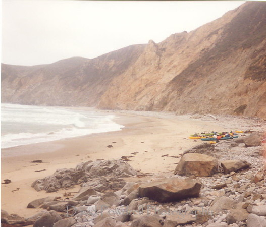Kayak camping at Point Reyes.