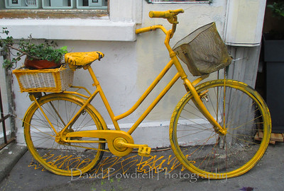 Sometimes Paris is yellow bike art.