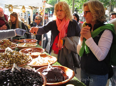 Tami and Valerie - olives and tapinade.