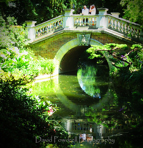 Paris is the reflection on the water at Parc des Butte Chaumont.