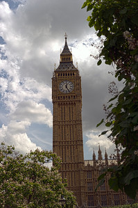 London's Big Ben clock tower. This photo was processed HDR.