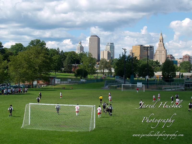 Colt Park and City Skyline, Hartford, CT