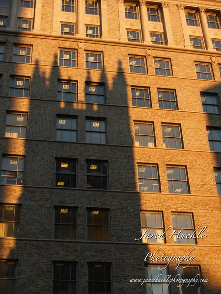 Church tower shadow, Hartford CT