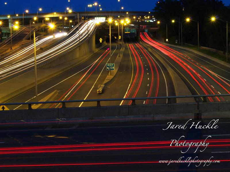 Traffic on Interstate 91, Hartford, CT