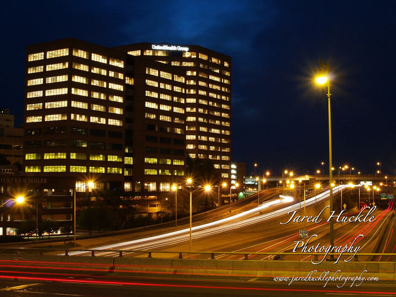 Office building and Interstate 91, Hartford, CT