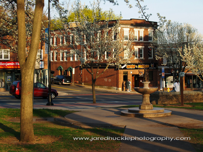 Main St and Center Park, Manchester, CT