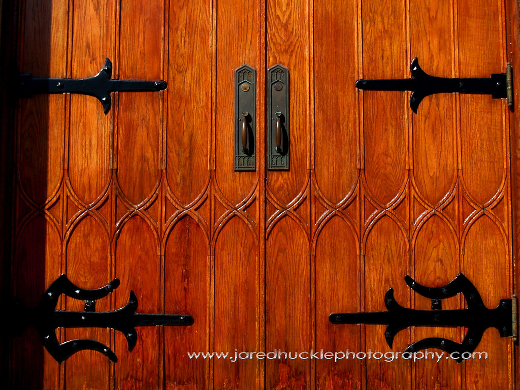 Door of South United Methodist Church, Main St, Manchester, CT