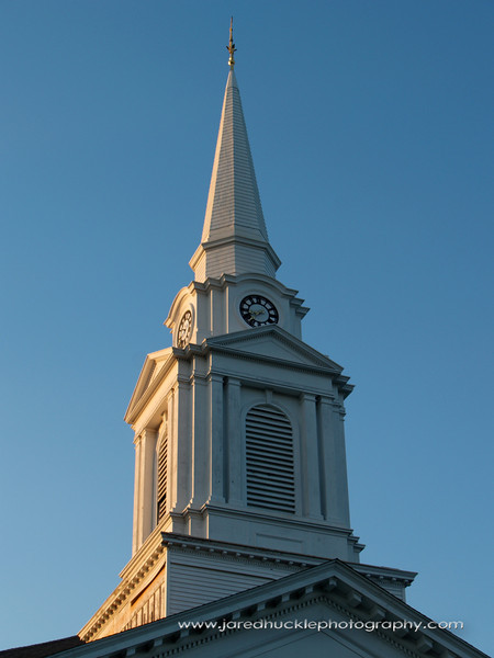 Church Steeple at Sunset, Manchester, CT