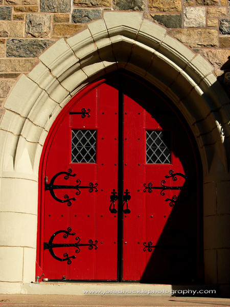 Door of St Mary's Episcopal Church, Manchester, CT