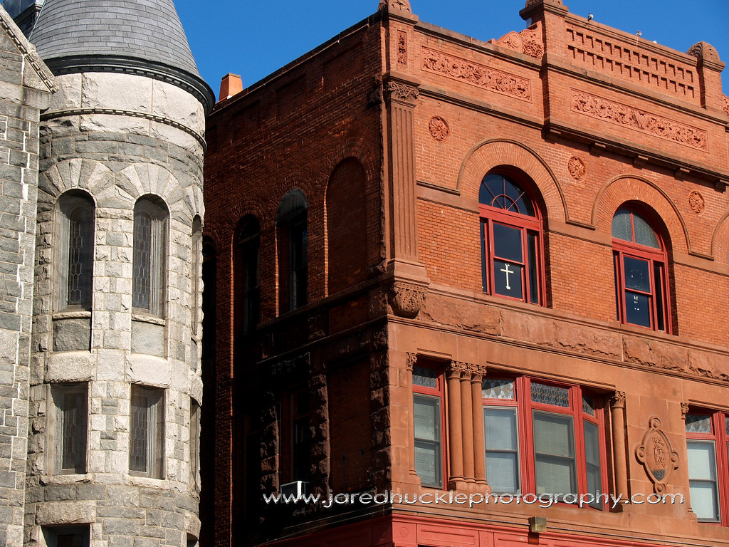 Church Corner and Red Brick Building, Rockville, CT