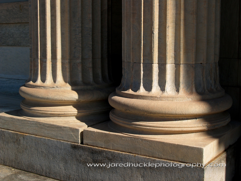 Columns on the Library, Rockville, CT