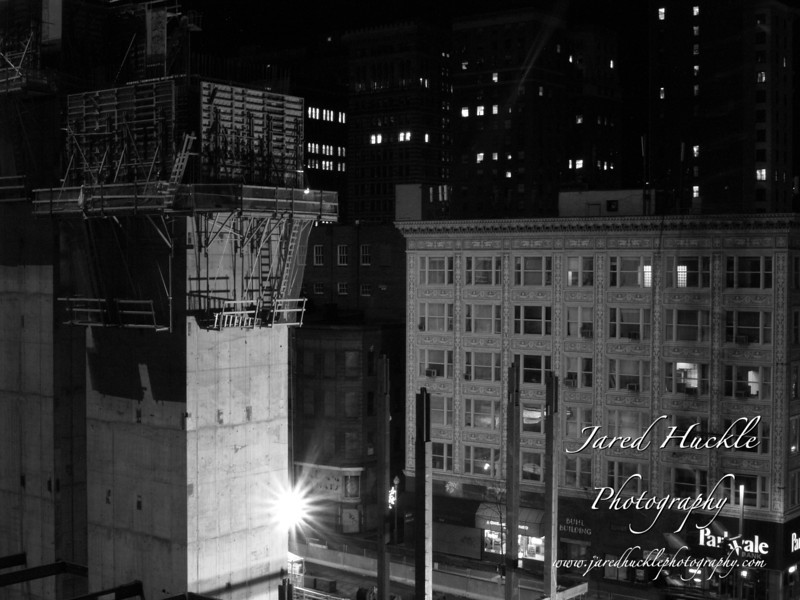 Construction of PNC tower, downtown Pittsburgh PA