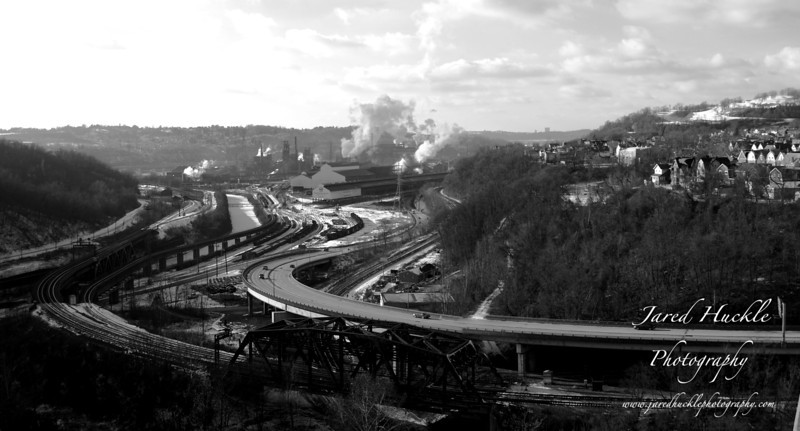 Turtle Creek and Edgar Thompson Works panorama, Braddock PA