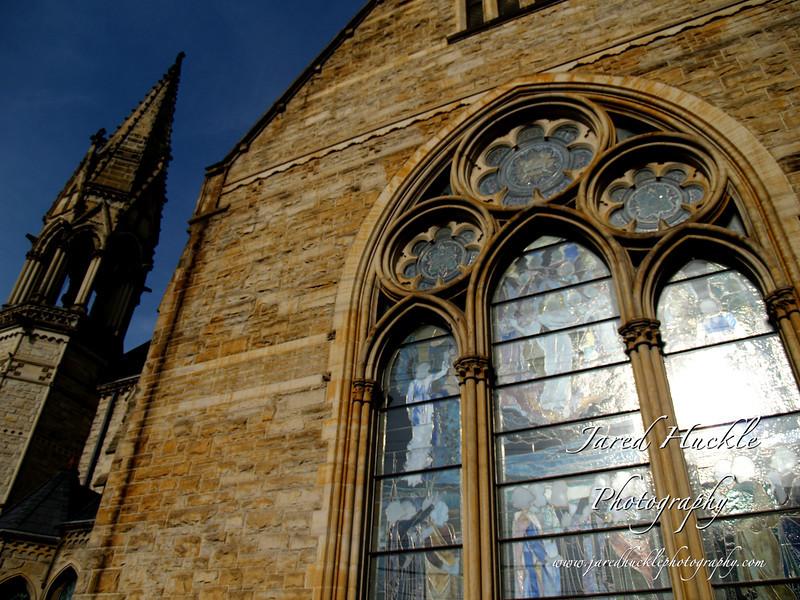 Calvary United Methodist Church, Beech St, Northside, Pittsburgh PA with its original Tiffany windows