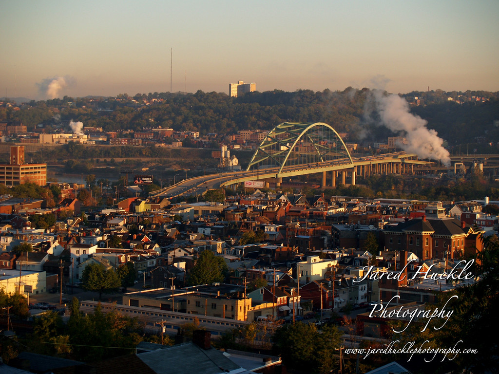 The South Side and Birmingham Bridge, Pittsburgh PA