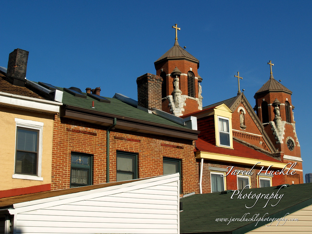 St Casimir Church steeples and rooftops