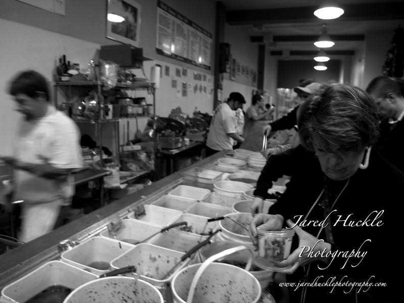 Pennsylvania Macaroni deli counter one week before Christmas, Strip District, Pittsburgh PA