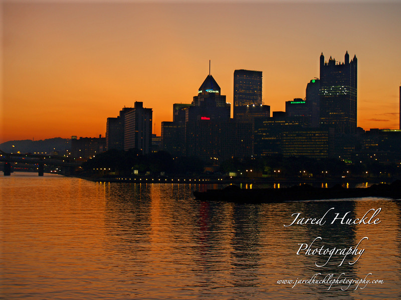 Downtown just before sunrise, Pittsburgh PA