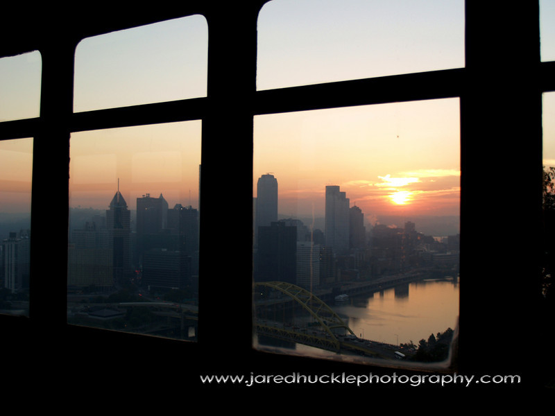View from cable car, Duquesne Incline, Pittsburgh PA