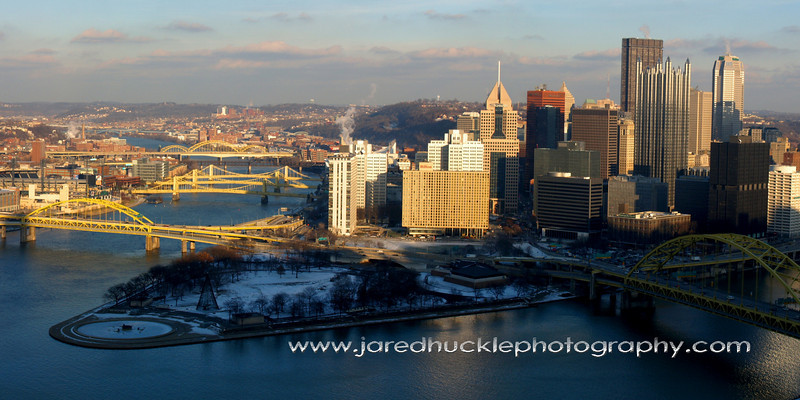 Panorama from the Duquesne Incline, Pittsburgh PA