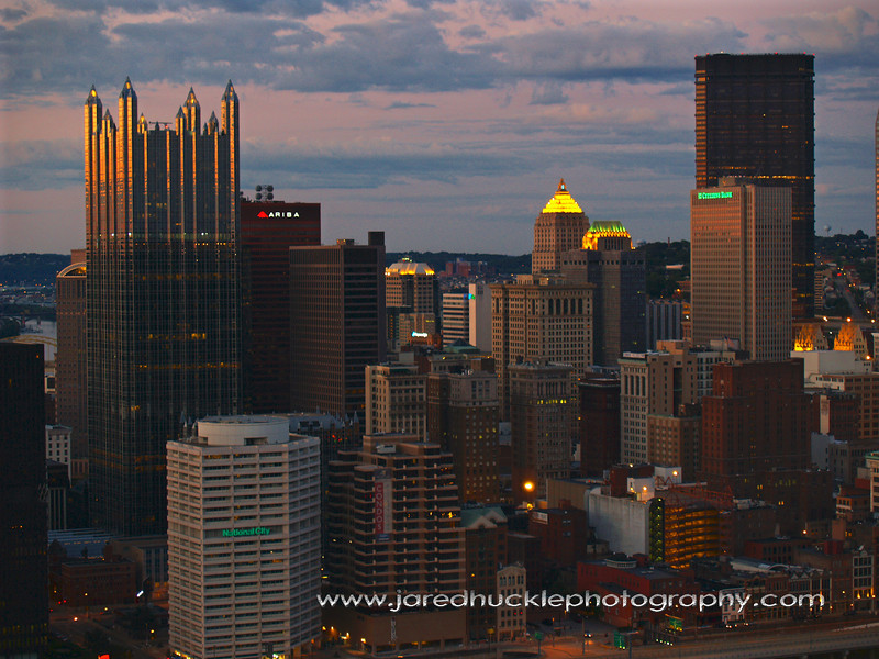 Downtown at dusk, Pittsburgh PA