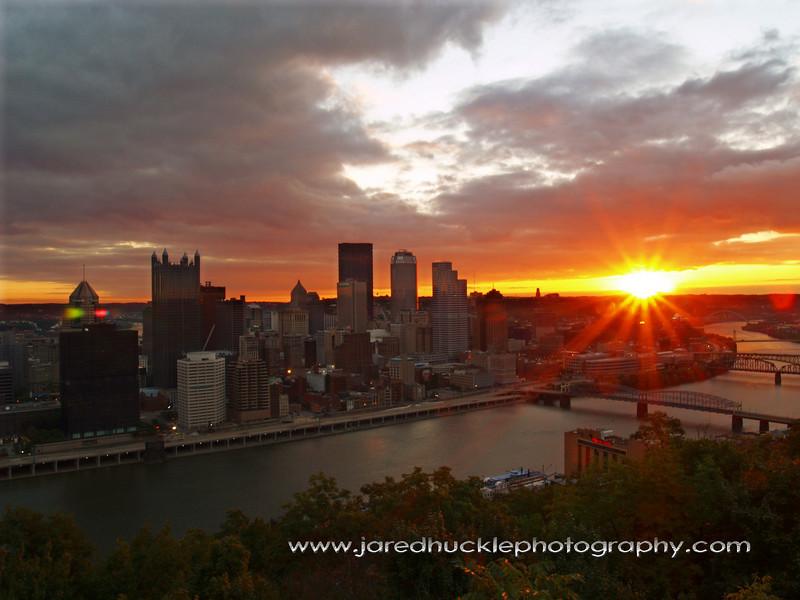 Sunrise from Mt Washington, Pittsburgh PA