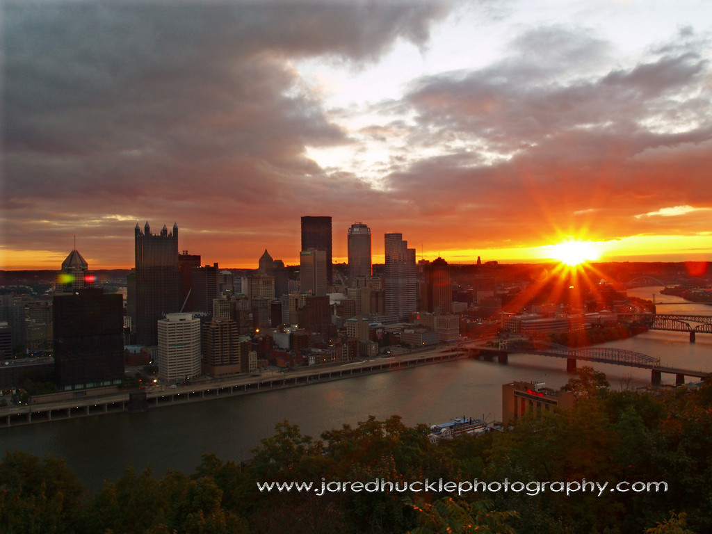 Sunrise from Mt Washington, Pittsburgh PA