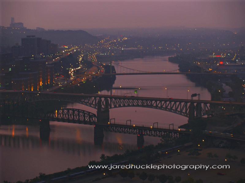 Monongahela River bridges (Panhandle, Liberty, 10th Street, Birmingham), Pittsburgh PA
