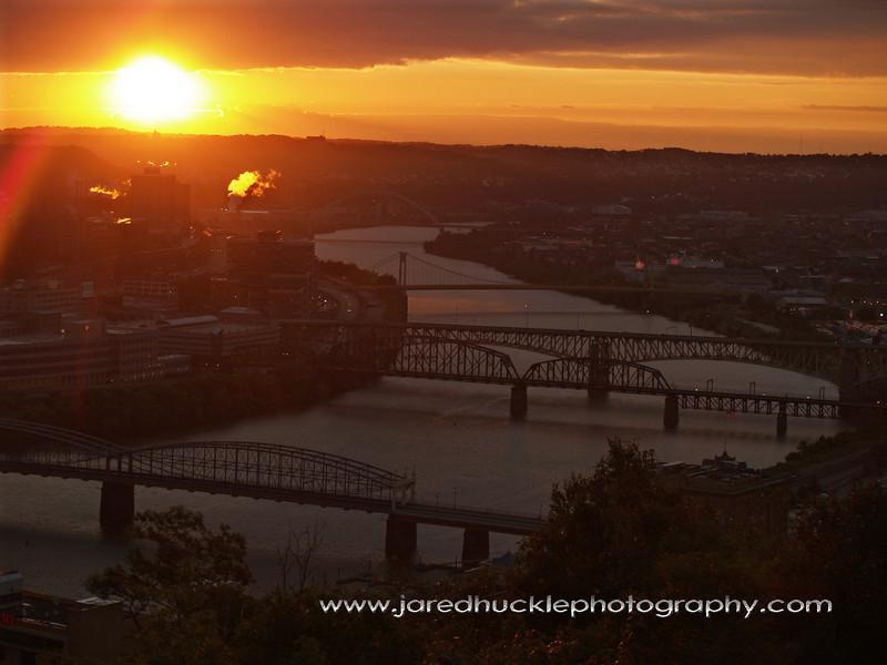 Monongahela River bridges (Smithfield, Panhandle, Liberty, 10th Street, Birmingham), Pittsburgh PA