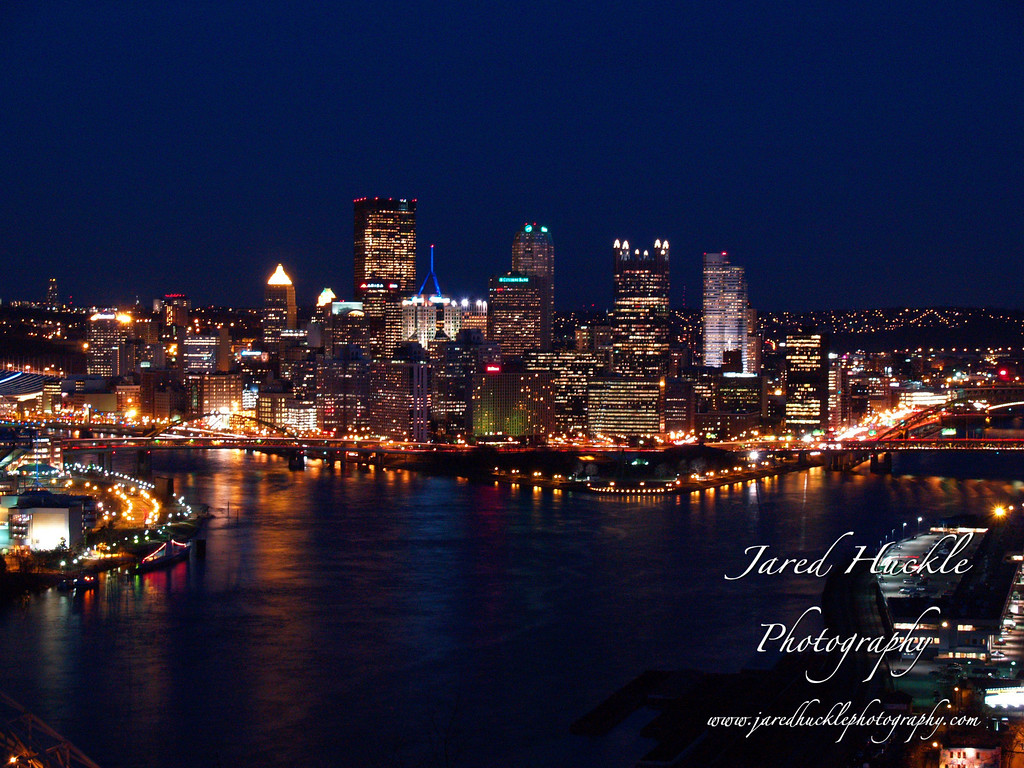 Downtown Pittsburgh seen from the West End Overlook, Pittsburgh PA