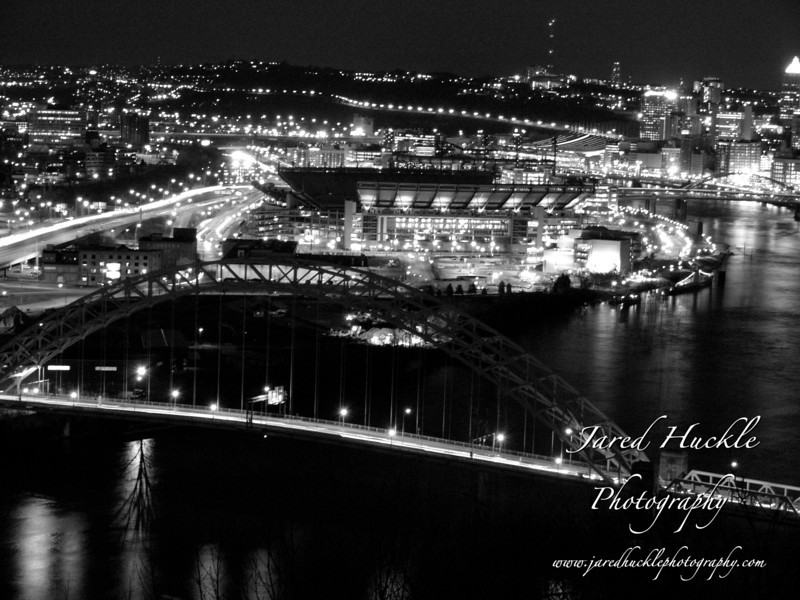Heinz Field and the West End Bridge from the West End Overlook, Pittsburgh PA