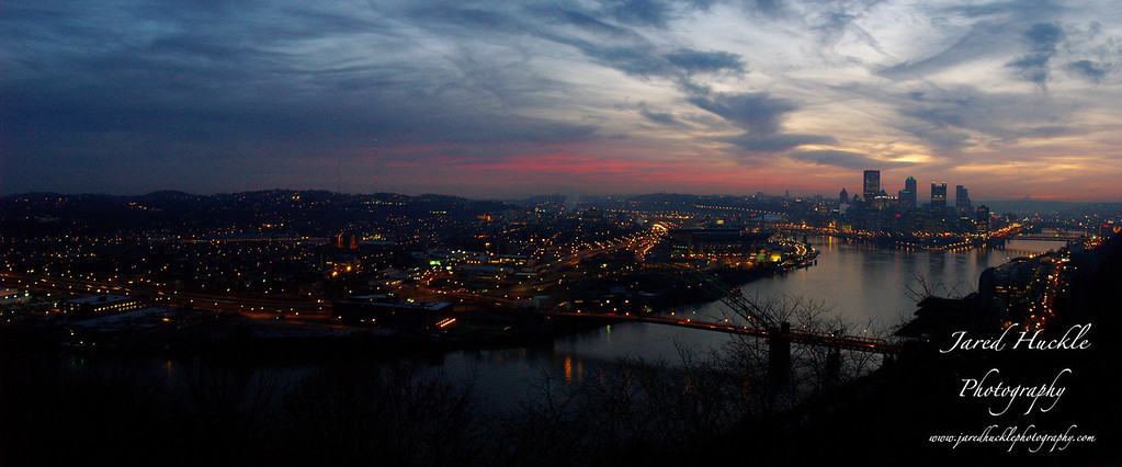 Panorama view from the West End Overlook, Pittsburgh PA