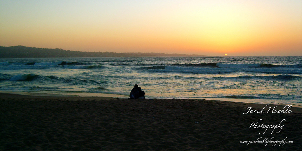Couple on beach, Monterey, California