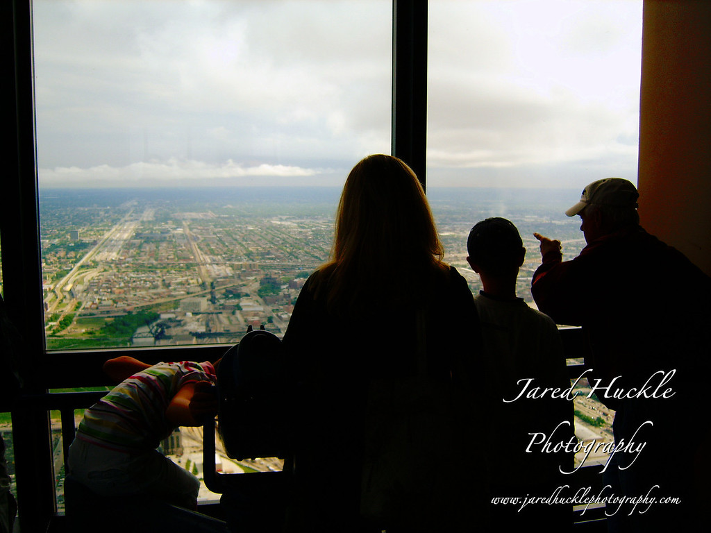 Viewing area of the Sears Tower, Chicago, IL