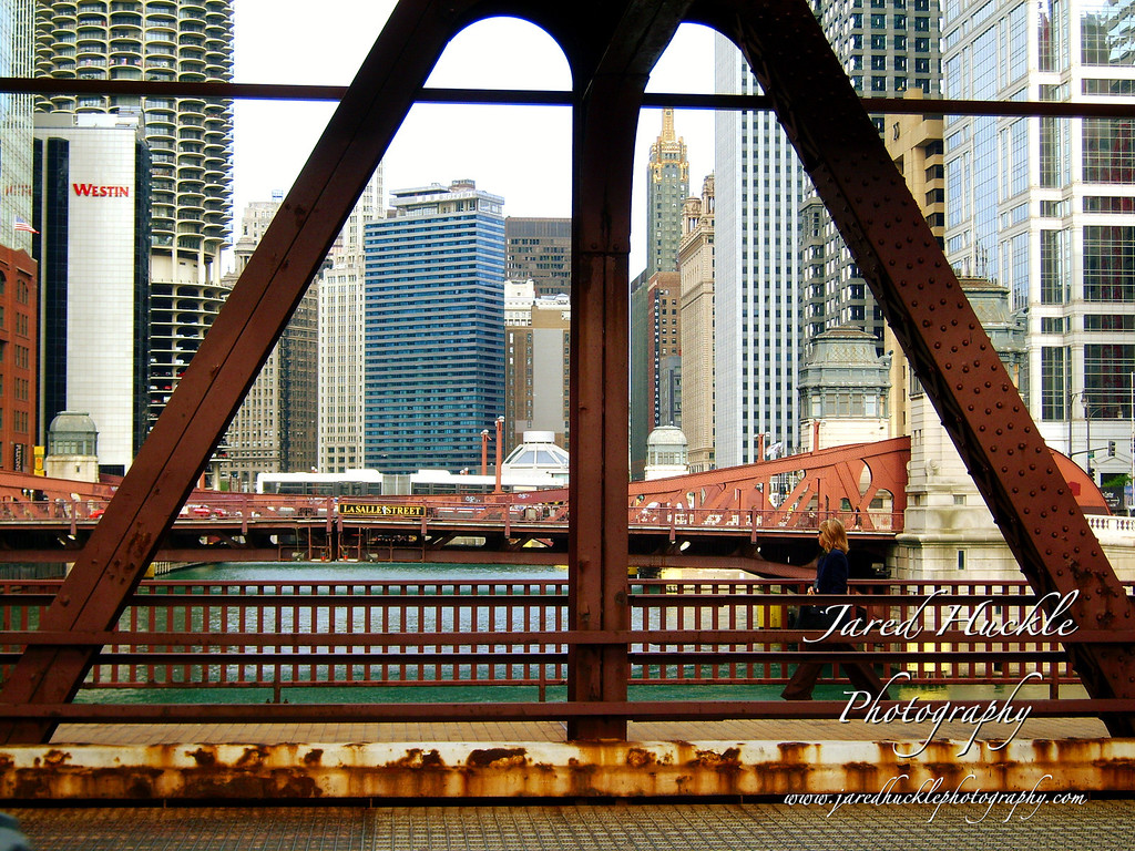 N Adams St bridge, Chicago, Illinois