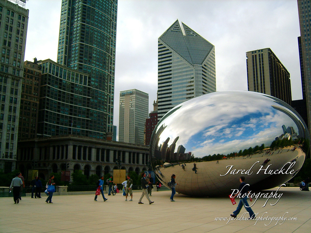 Cloud Gate (aka the bean), Millenium Park, Chicago, Illinois