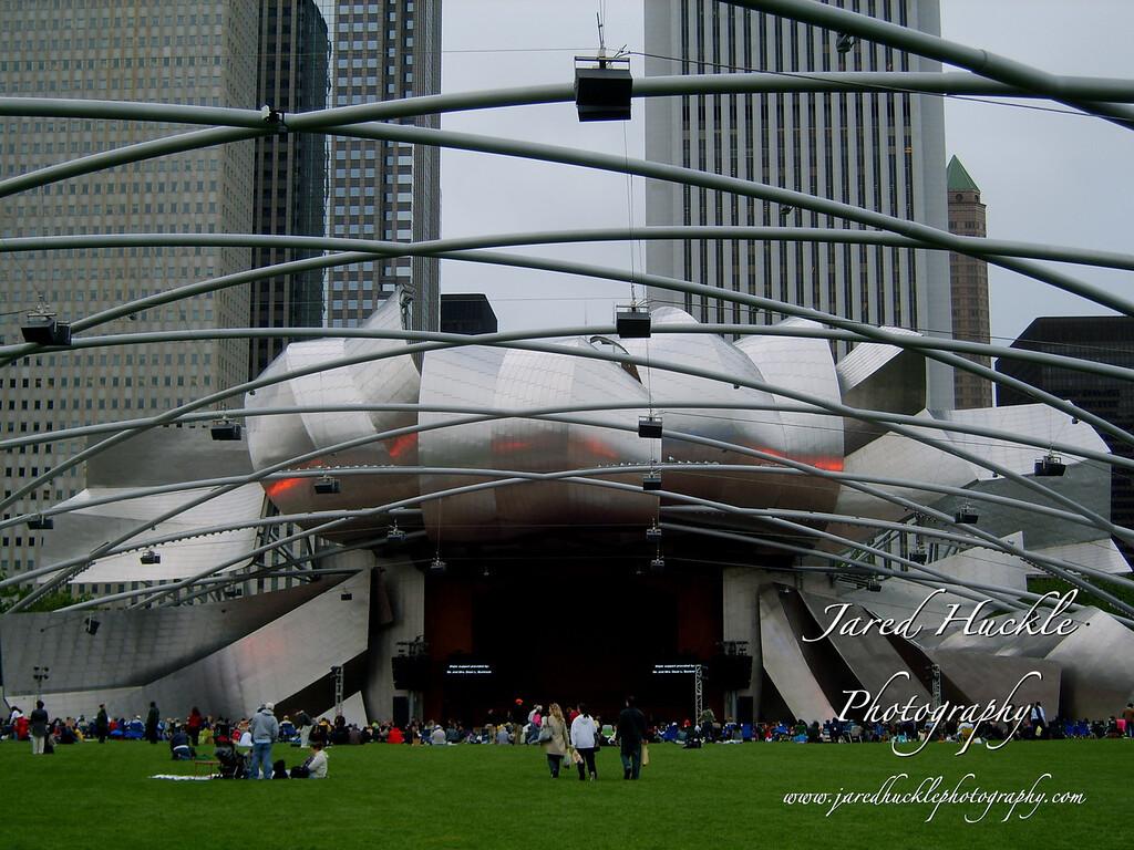 Jay Pritzker Pavilion in Millennium Park, Chicago, Illinois