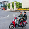 Two Soldiers on a Scooter