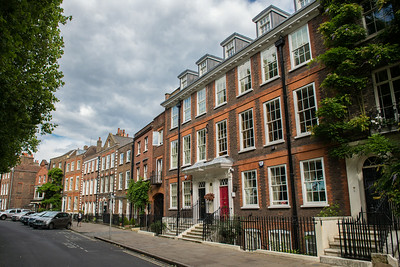 Row houses along Richmond Green